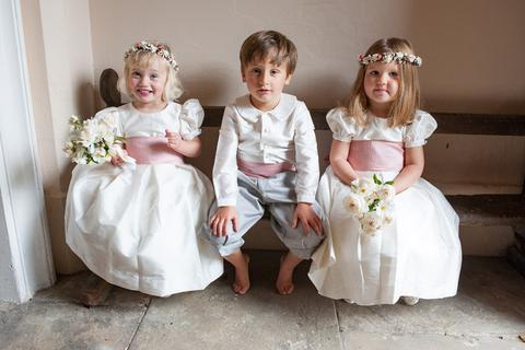 Amelia Brennan silk flower girl dress