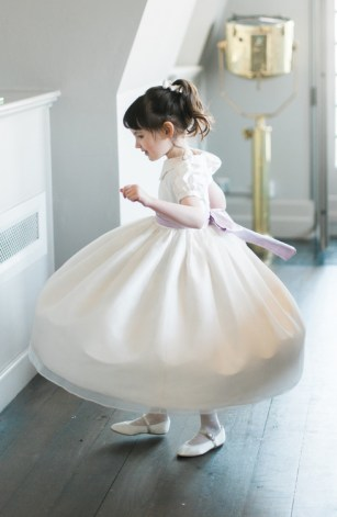 Little Bevan Daisy flower girl dress
