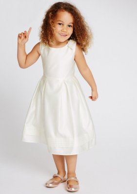 Marks and spencers satin flower girl dress