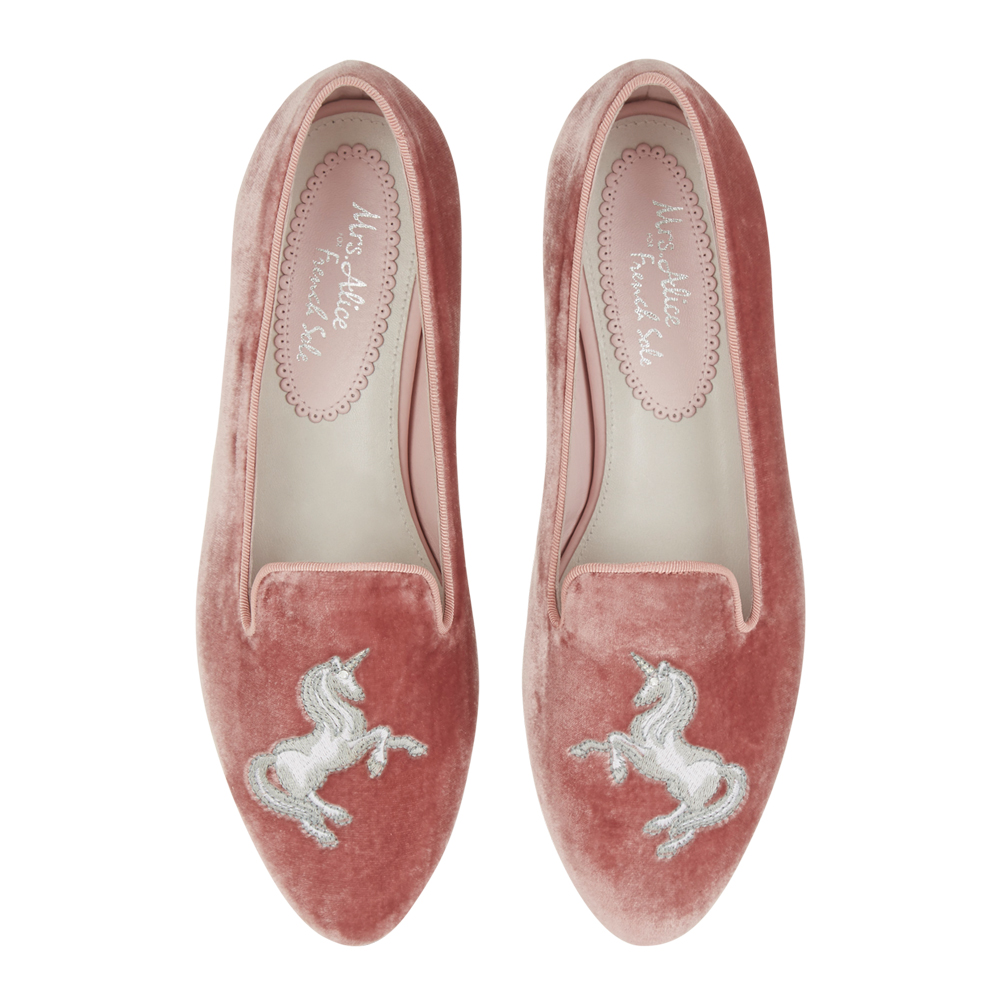 Mrs Alic for French Sole Unicorn slipeers