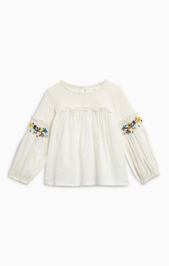 Next ecru embellished sleeve blouse