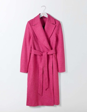 Boden pink tweed coat