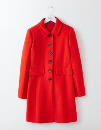 Boden red coat