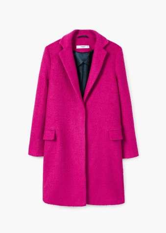 Mango pink coat
