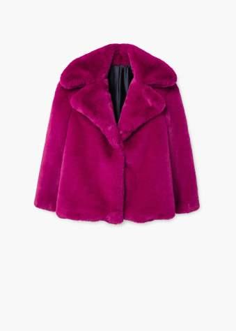 Mango pink fur jacket