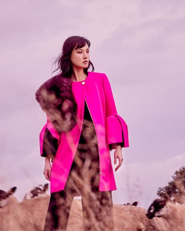 Ted Baker bright pink coat