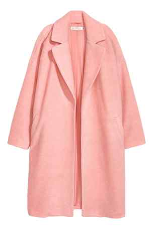 hm peach wool coat
