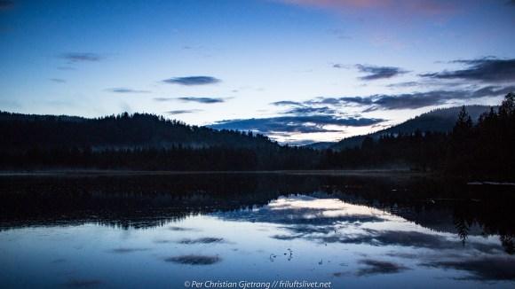 Solnedgang over Skibberoset, fredag kveld