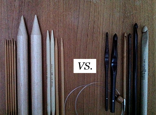 knitting needles vs crochet hooks