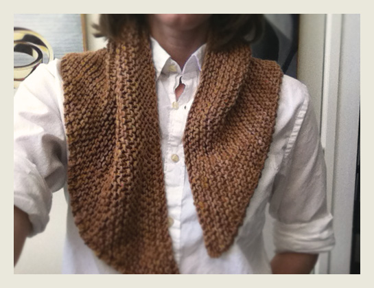 malabrigo applewood garter stitch triangle shawl