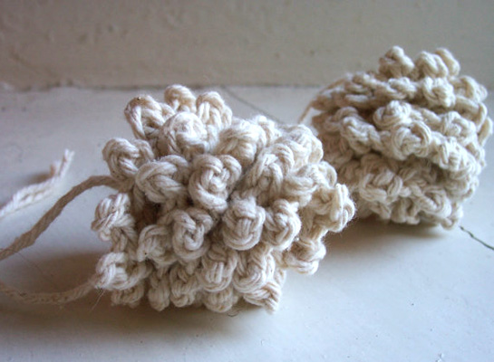 crocheted pine cone by bluebellglen
