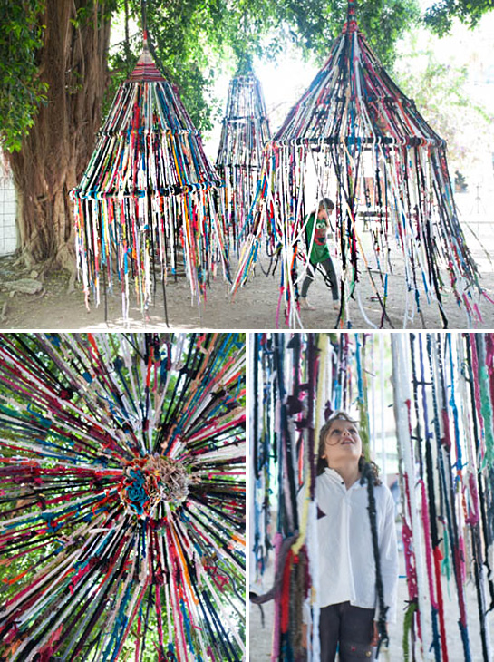 finger knitted tents