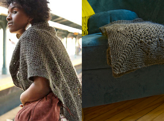 travel shawl knitting pattern by veronik avery