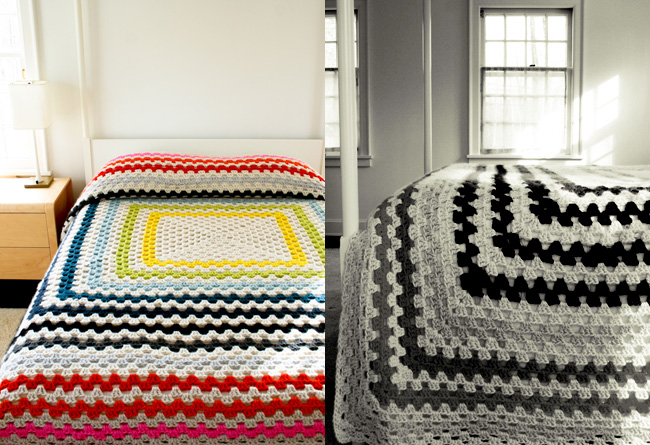 purl bee giant granny square blanket