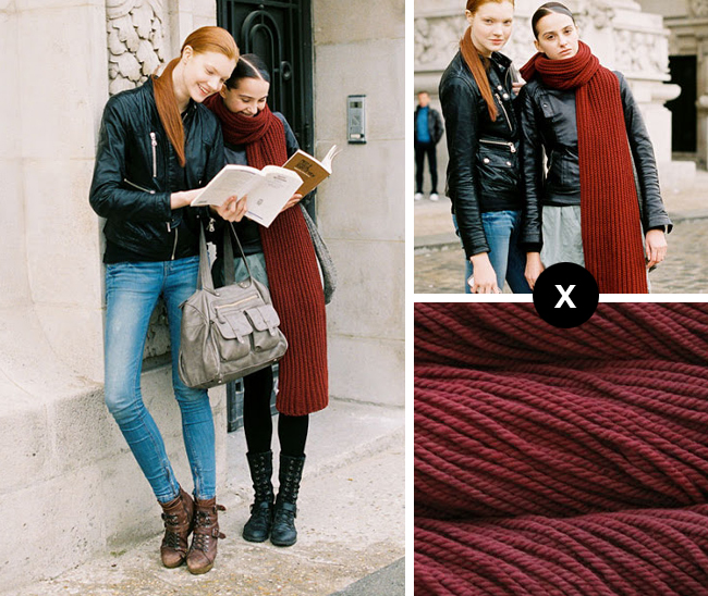 knit the look giant ribbed scarf vanessa jackman