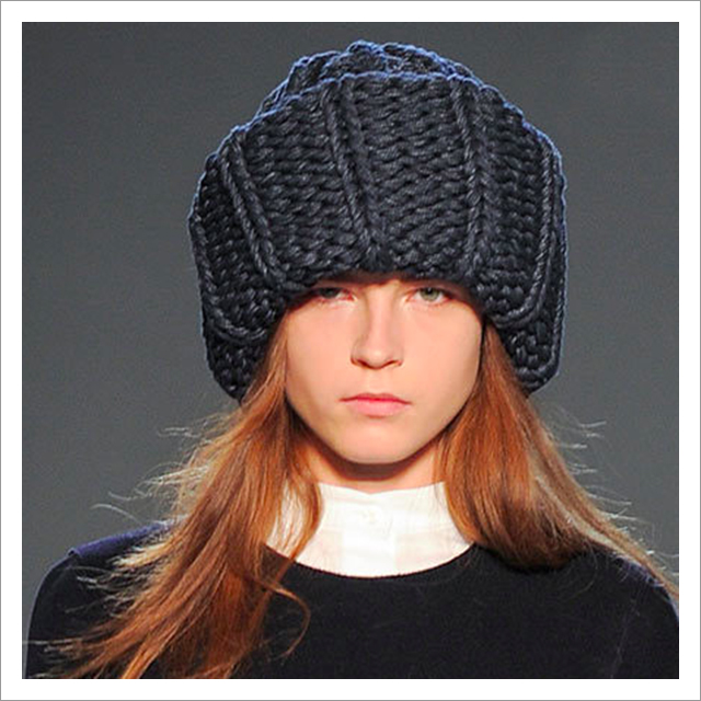 Victoria Beckham giant knitted hat