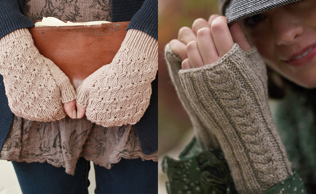 fingerless mitts knitting patterns by alicia plummer and clara parkes