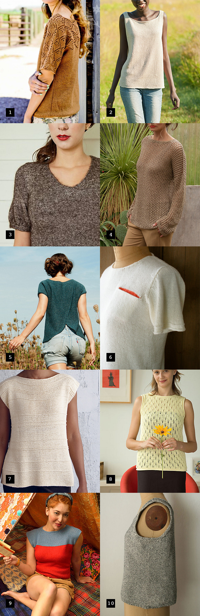 Best summer sweater knitting patterns