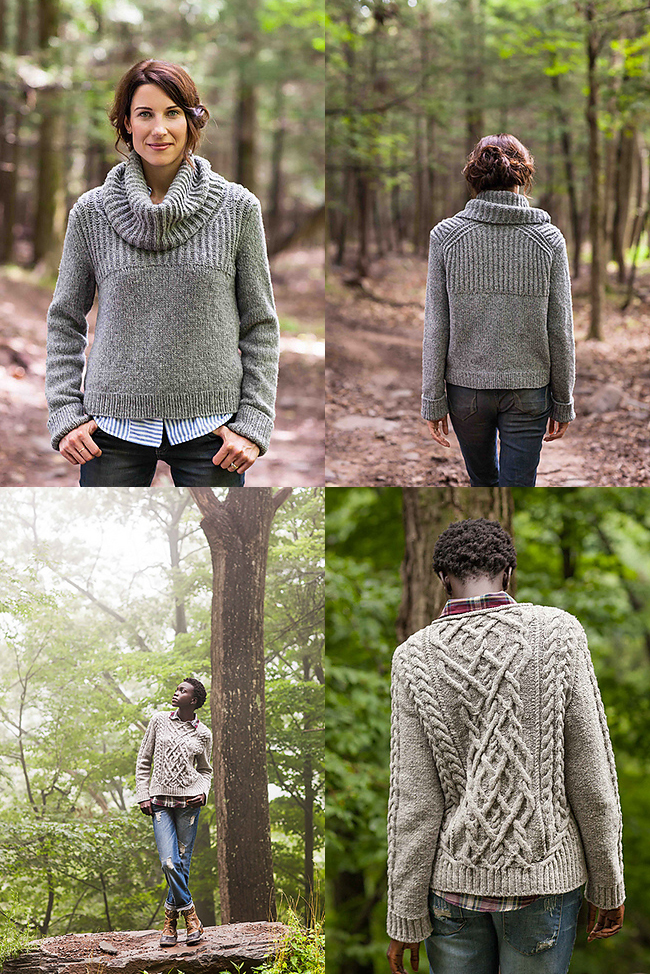 Oshima and Stonecutter sweater knitting patterns from BT Fall 13