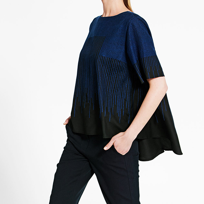 TSE embroidered top