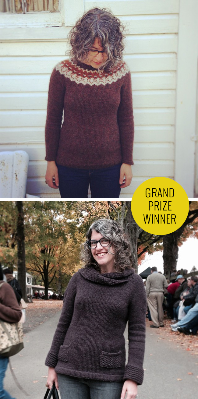 Rhinebeck Sweater contest 2013 grand prize winner