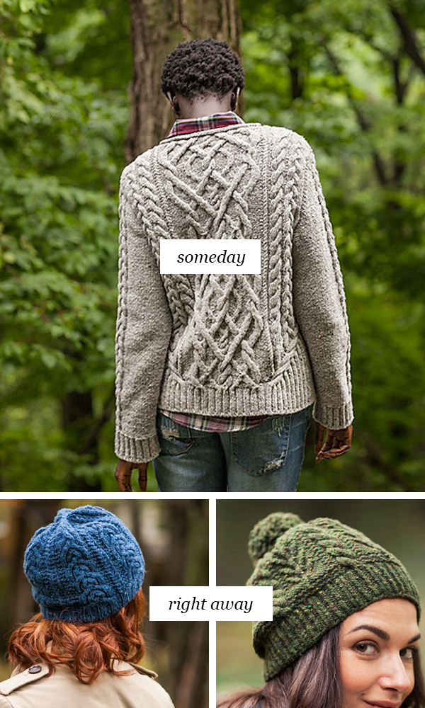 Someday vs Right Away: Complex mixed cable knitting patterns