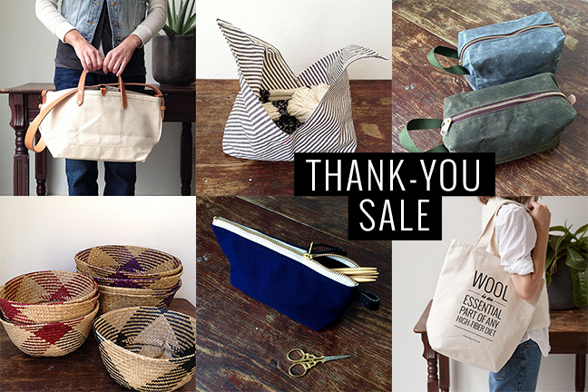 The THANK-YOU SALE — Dec 29–30 at Fringe Supply Co