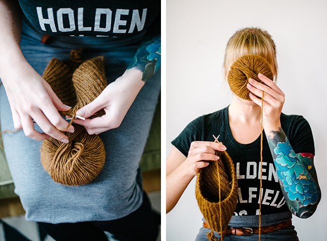 Lauren of Susk & Banoo knitting