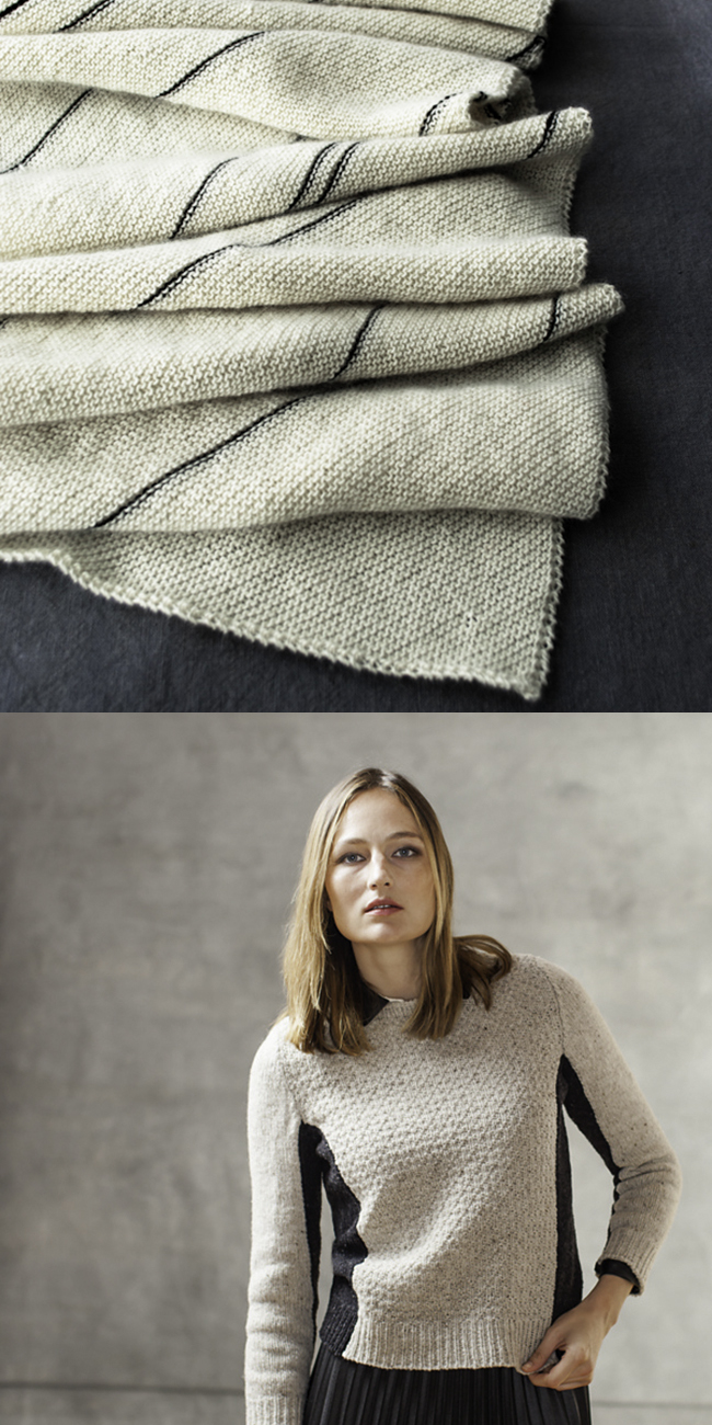 New Favorites: Ebony and ivory knitting patterns