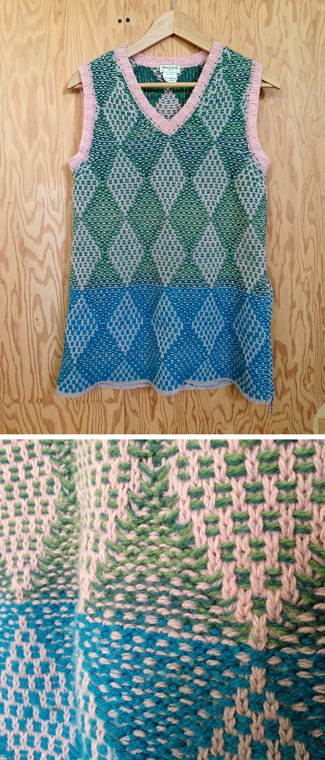 Can we talk about this Dries Van Noten stitch pattern?