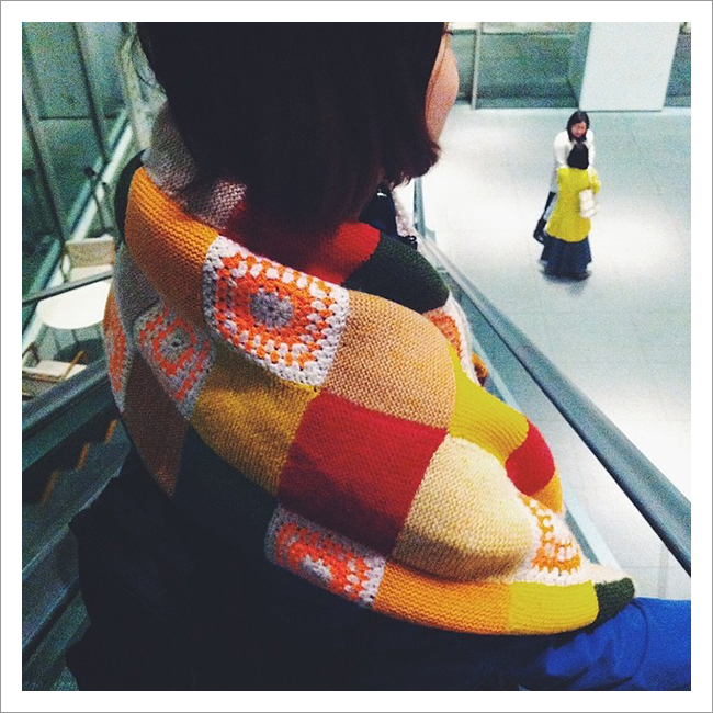FO Sightings: Junko's patchwork shawl