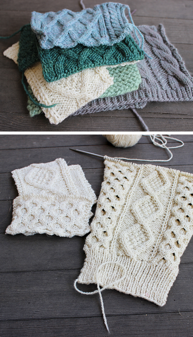 How to knit and measure a cable swatch