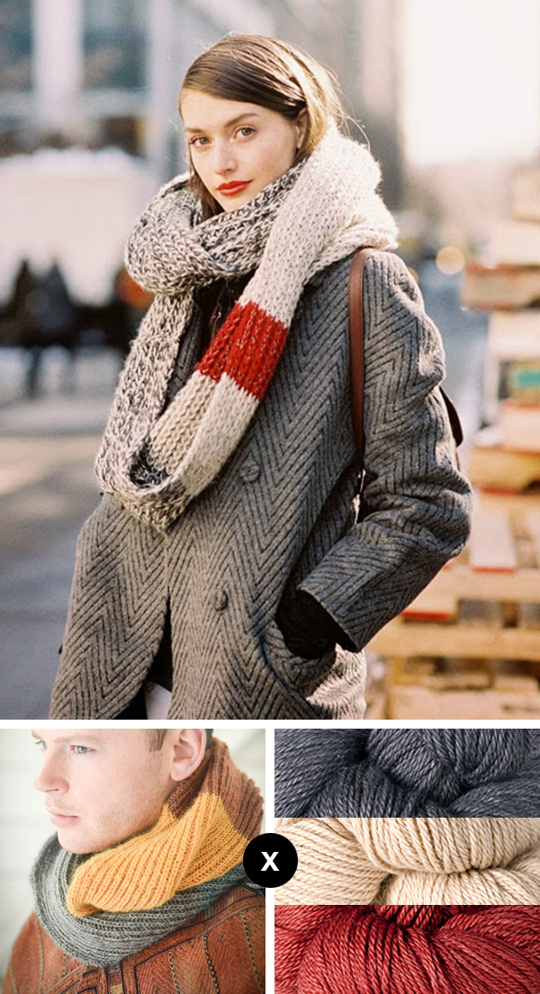 Knit the Look: Multi-marl infinity scarf