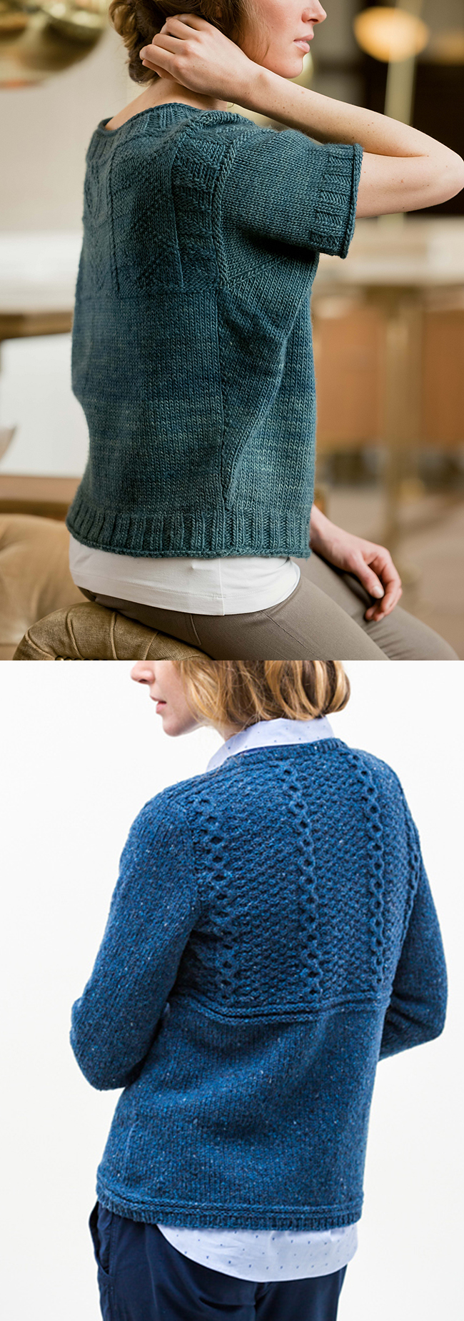 New Favorites: Modified gansey sweaters