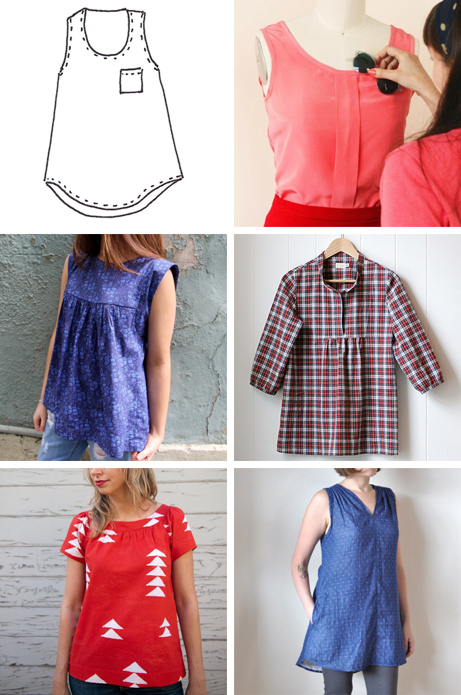 What to wear under a cardigan: Or, sleeveless-top sewing patterns