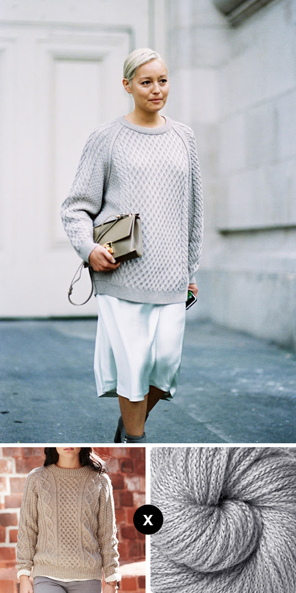 Knit the Look: Rachael Wang's silvery cables