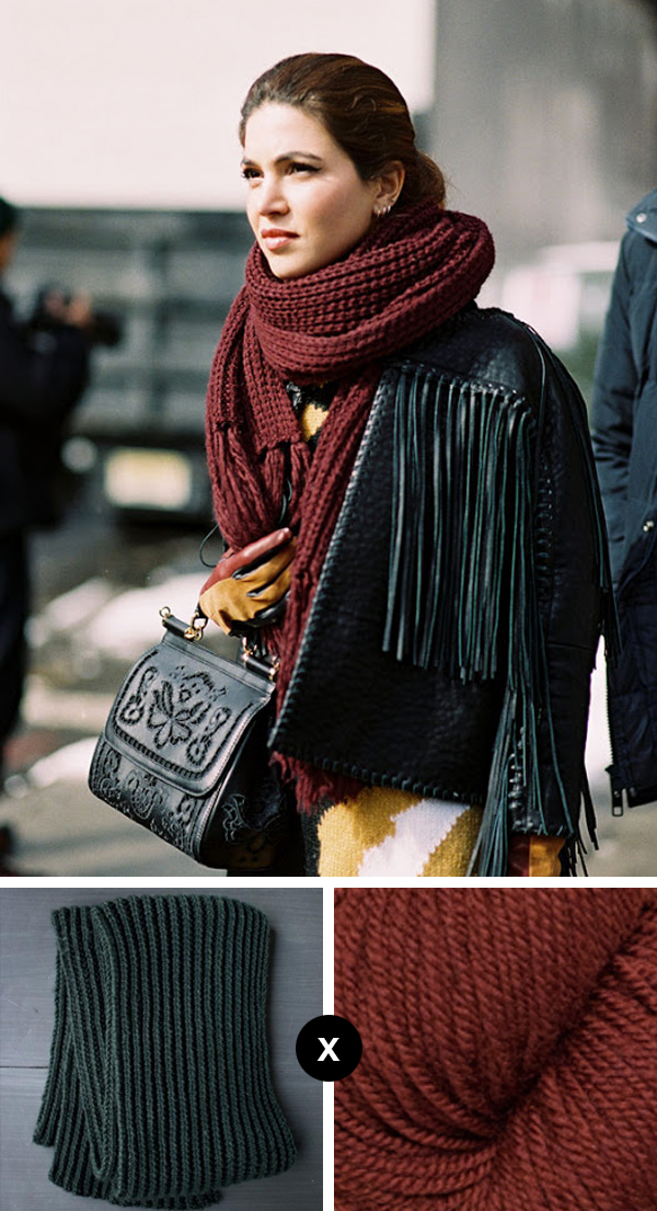 Knit the Look: Big scarf season