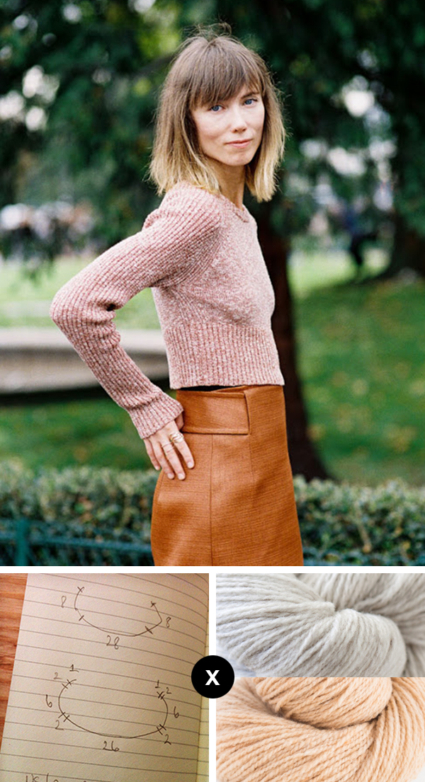 Knit the Look: Anya Ziourova's cropped raglan