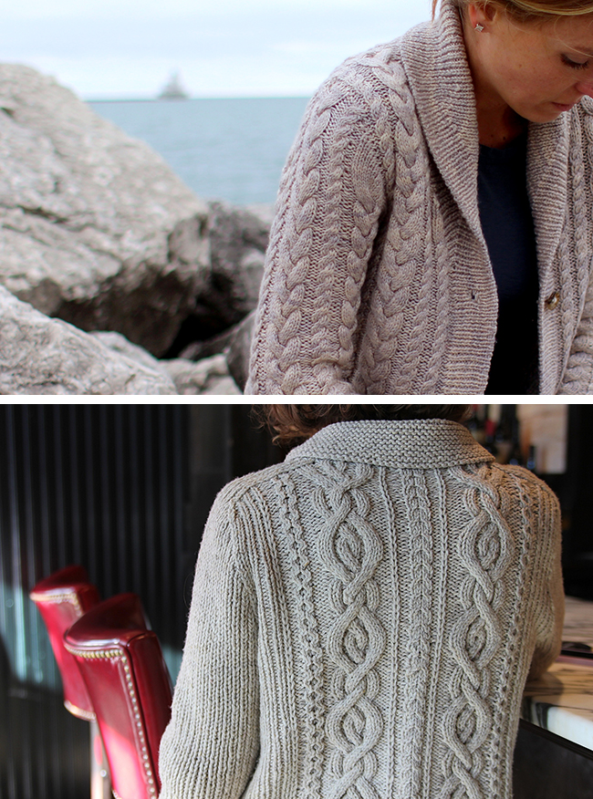 New Favorites: Shawl collars and cables