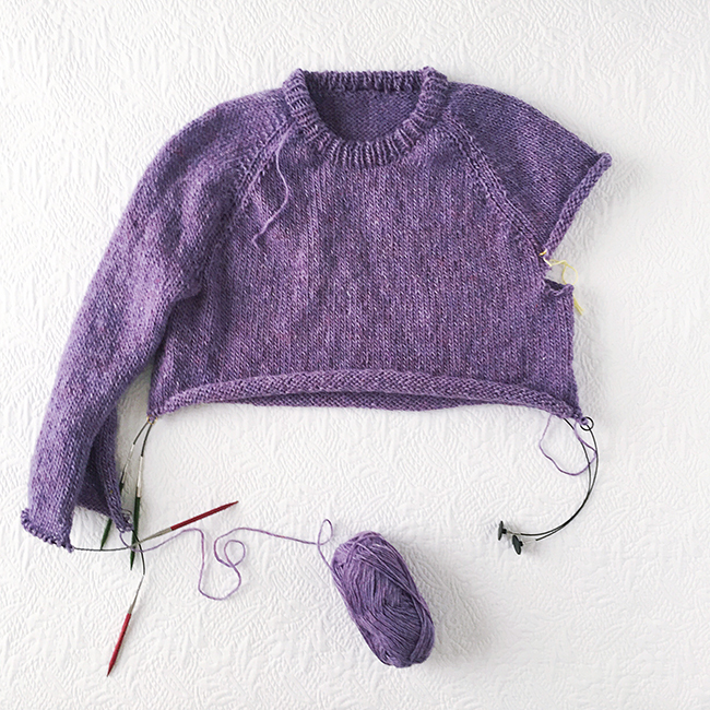 Improv: Basic pattern for a top down seamless sweater