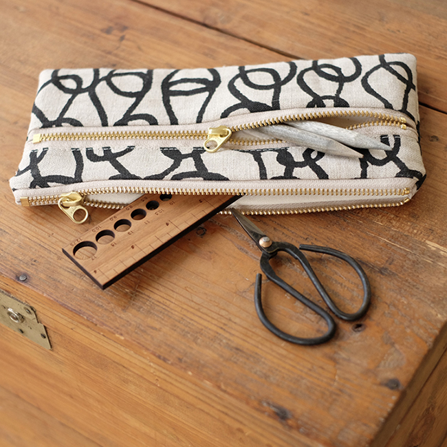 Top 10 ways to improve your knitting life this holiday season: Bookhou double-zip pouch
