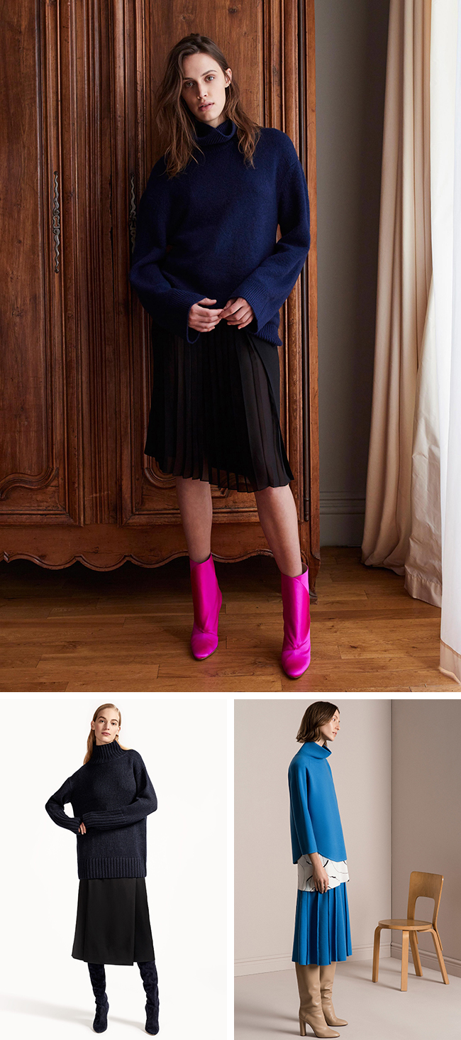 First of the Best of Pre-Fall 2017: Funnelnecks and midiskirts