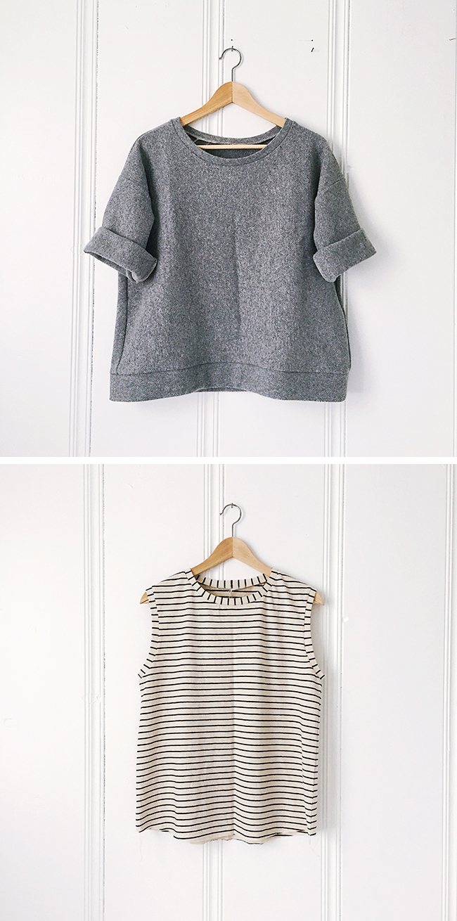 2017 FO-6 and 7: Grey pullover + striped muscle tee