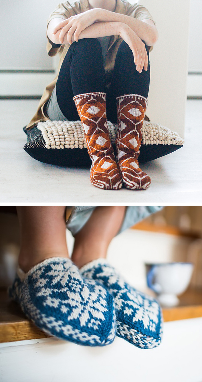 New Favorites: Colorwork slippers
