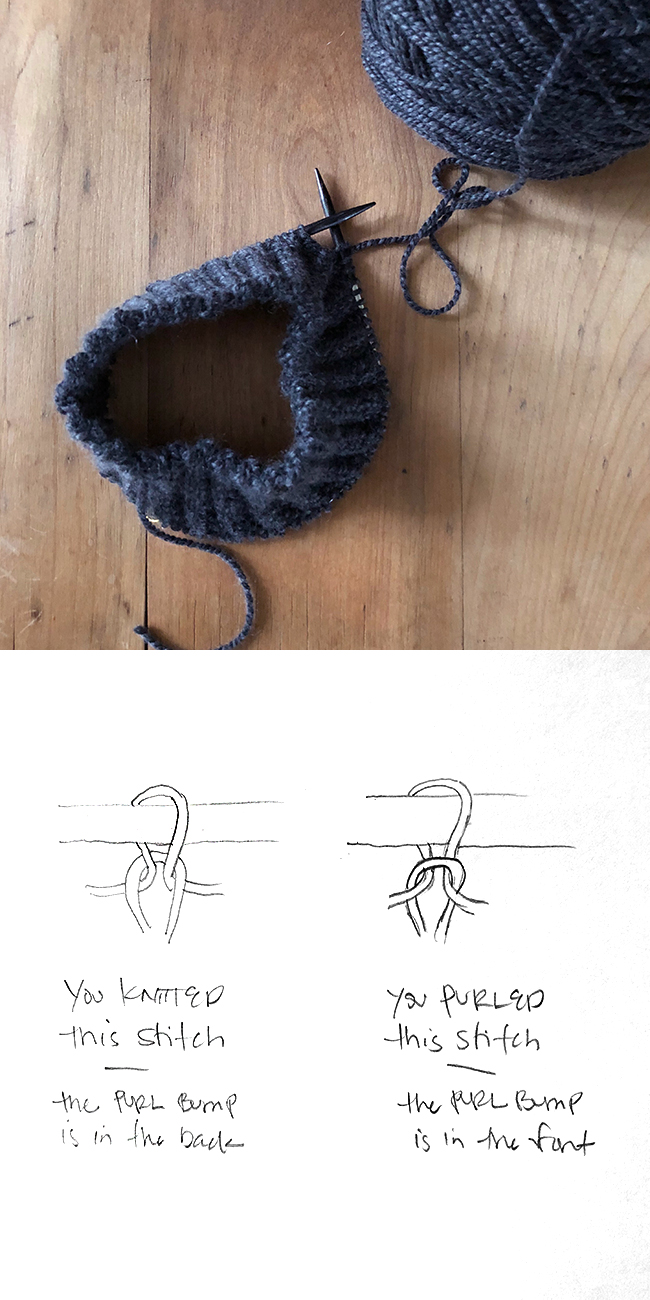 How to read your knitting: knits and purls