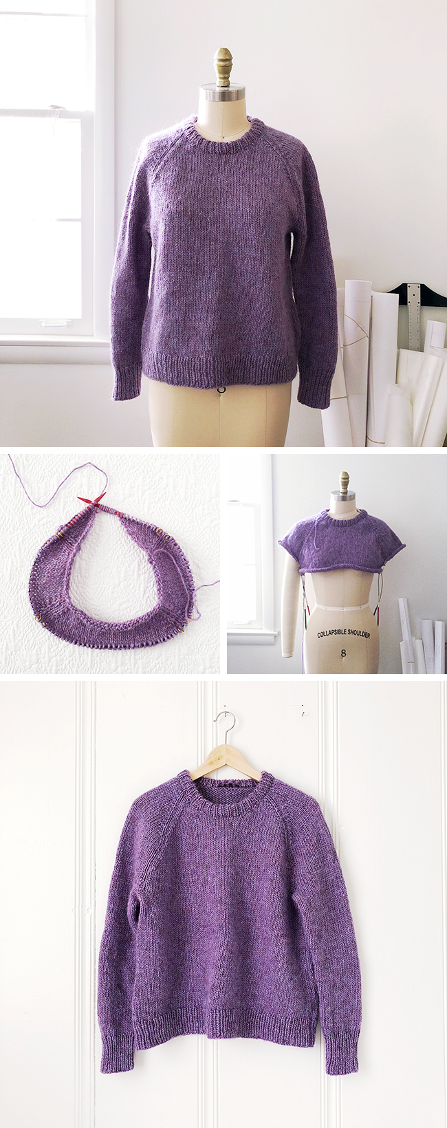 Finished: Purple lopi pullover