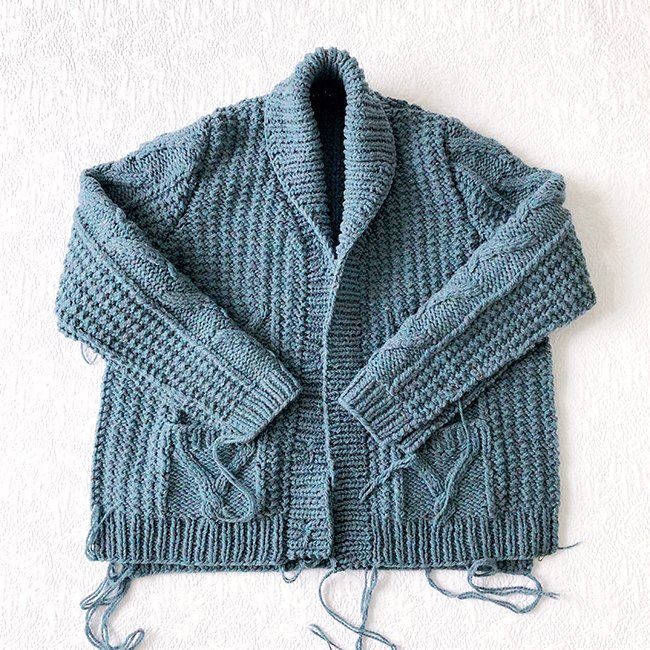 The case of the unfinished cardigan