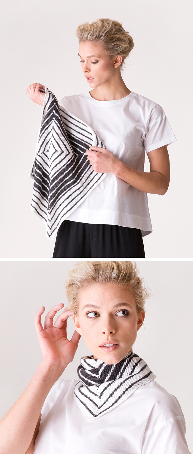 New Favorites: Graphique kerchief knitting pattern