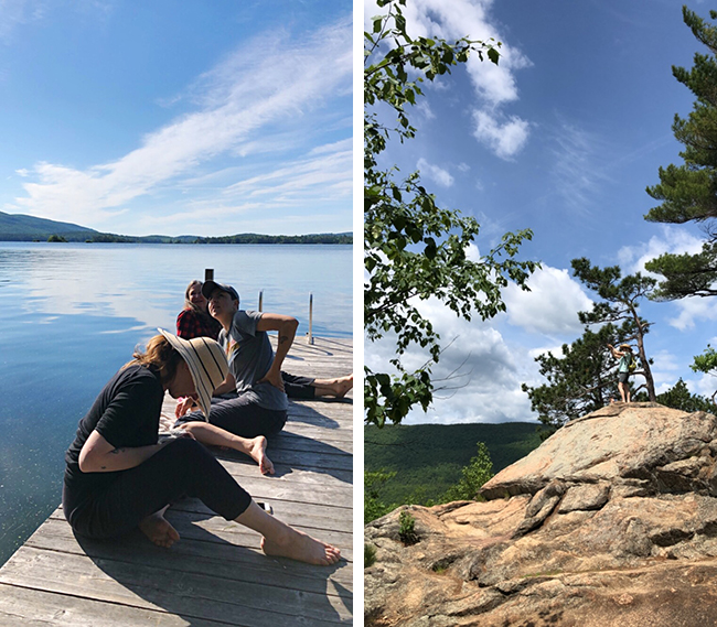 Squam part 2: Knitting, dyeing, hiking, wearing