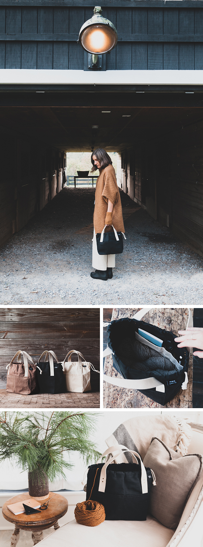 Introducing the Town Bag project bag by Fringe Supply Co.